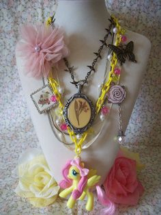 Fluttershy's Garden  Grand Galloping Gala by sugarcubecorner, $80.00