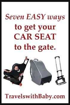 Flying with car seats? Here are seven ways to make getting your car seat through the airport easy. Includes tips for juggling car seat and products to help ease traveling with them. Toddler Travel, Travel With Kids, Family Travel, Car Seat Travel Bag, Suitcase Packing Tips, Best Lightweight Stroller, Toddler Car Seat, Best Car Seats, Flying With A Baby