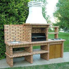 backyard design – Gardening Tips Backyard Kitchen, Outdoor Kitchen Design, Backyard Patio, Backyard Landscaping, Outdoor Barbeque, Outdoor Fire, Outdoor Living, Barbeque Design, Parrilla Exterior