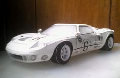 1969 Ford GT40 Paper Car Free Vehicle Paper Model Download