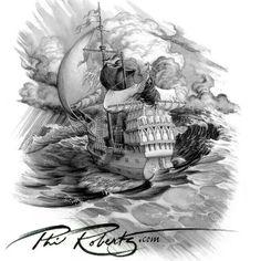 Sailing skull
