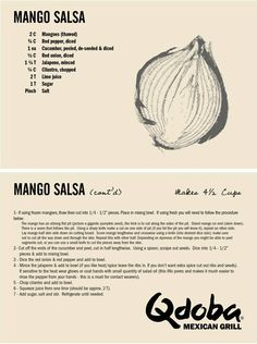 Mango Salsa comes back this May! But, if you can't wait, we're cool sharing the recipe with you.
