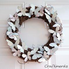 Kaleidoscope of Butterflies Wreath with @craftimentsblog #spring #wreath