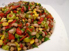 Dry Cowpea Salad Recipe - Kitchen in Kevser - Recipes Turkish Salad, Bean Salad Recipes, Appetizer Salads, Food Articles, Cooking Recipes, Healthy Recipes, Turkish Recipes, Healthy Nutrition, Food And Drink