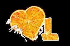 Alfabeto corazón de naranja.   Oh my Alfabetos!