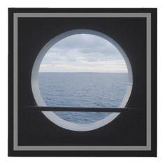 #Porthole View Faux Canvas Print - #travel #art