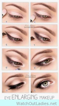 Make up to make your eyes look biggers and brighter tutorial