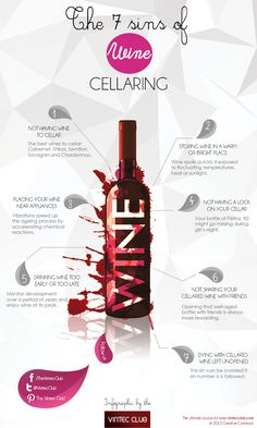 [INFOGRAPHIC] – The 7 Sins Of Wine Cellaring by the Vintec Club: http://www.vintecclub.com.au/the-7-sins-of-wine-cellaring/