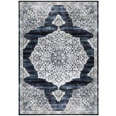 Home Dynamix Bazaar Royal Navy 7 ft. 10 in. x 10 ft. 2 in. Indoor Area Rug - The Home Depot Home Depot Rugs, Home Rugs, Rectangular Rugs, Royal Navy, Power Loom, Colorful Rugs, Modern Decor, Classic Style, Area Rugs