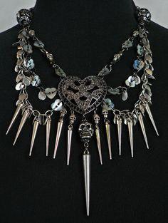 Skull & Spikes Necklace by Skullbag