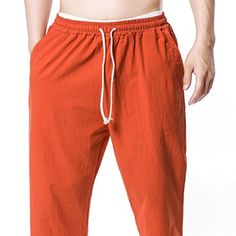 Jotebriyo Men Multi-Pockets Sport Color Block Casual Corduroy Pants Sweatpants