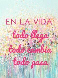 En la vida...