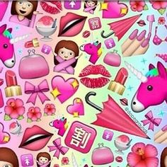 How many Pink Emojis can you count? Thanks @dazzlingd05   #pink #emoji #collage