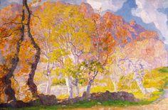 Els Lledoners de Bóquer, huile sur toile de Hermen Anglada Camarasa (1871-1959, Spain)