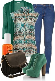 Aztec Style Winter Combinations, so cute! I love these platforms!