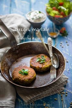 Burger Vegetale di lenticchie e curry
