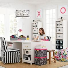 Home-Decor collab desk inspiration, dream rooms, dream bedroom, home office, Dream Rooms, Dream Bedroom, Office Workspace, Office Decor, Office Ideas, Black And White Chair, White Chairs, Sweet Home, Desk Inspiration