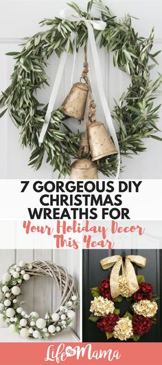 Glossy or rustic, traditional or modern- you can easily craft and create a Christmas wreath that fits your decor. Here are some of my favorite options for this upcoming Christmas. #wreath #christmaswreath