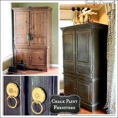 Check out these awesome examples of vintage furniture revived with chalk paint.