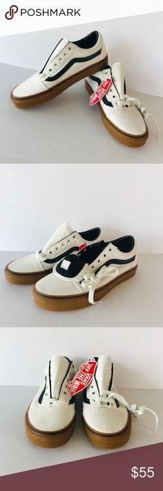 Vans Old Skool Gum Blanc De BlancBlack Shoes NWT