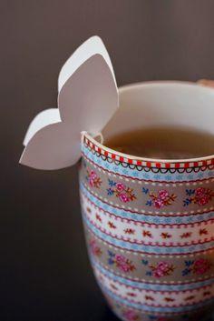 LYSM deSign: tea bag holder diy butterfly Visit my blog for the whole tutorial!