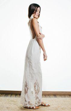 IOKASTE BACKLESS WHITE DRESS | justBrazil store