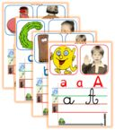 Affichage e l'alphabet -Nouvelle version Abc Cards, Kids Cards, Mothers Day Crafts For Kids, Mothers Day Cards, Learning To Write, Kids Learning, Alphabet Alpha, Abc Centers, French Education