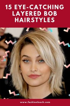 Bob hairstyles are always popular and trendy. we have rounded up some of  the best layered bob hairstyles for you. click to get 15 Eye-catching  Layered Bob Hairstyles. you will find some trendy and hot bob haircut layered.  #bobhairstyles #layered_bob  #bobhaircut