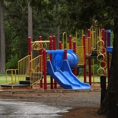 The playground equipment offers a play option for guests.