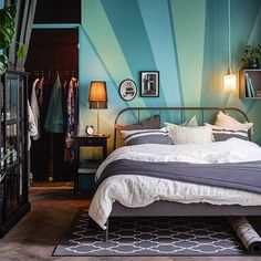 Love the bedding color scheme with the Kopardal bed frame.