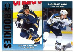 Jochen Hecht RC / Ladislav Nagy RC # 203 - 1999-00 Pacific Omega Hockey NHL Rookie