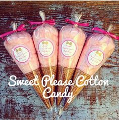 Party Cotton Candy Ice Cream Cones fluffy by SweetPlseCottonCandy