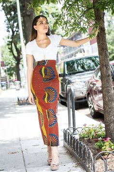 African clothing African skirt African fabric by BoutiqueMix