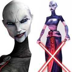 #wcw Asajj Ventress 😈 can't wait to cosplay her this weekend at #C2E2 #starwars #jediscum