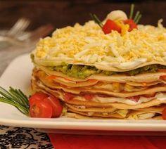 Torta de Panqueques Salada