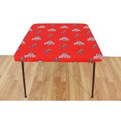 College Covers Ohio State Buckeyes Card Table Cover   33; X 33;, Red