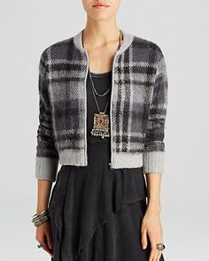 Free People Cardigan - Oh My Plaid | Bloomingdale's