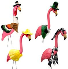 Large Pink Flamingo with 4 Seasonal Outfits Outdoor Lawn Decor Thanksgiving St. Patrick's Day and More Knight http://www.amazon.com/dp/B00NMVDWMW/ref=cm_sw_r_pi_dp_SVCsub167Y4AS