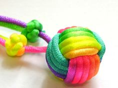 Rainbow Ball Necklace by Monkey Fist Knot by sarahcollection