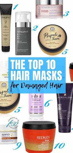 Here are 10 of the best hair masks for desperately damaged hair due to aging, hair coloring or heat styling. You can repair your hair. #hair #hairmask #hairtreatments #damagedhair #antiaging Hair Mask For Damaged Hair, Best Hair Mask, Dry Damaged Hair, Deep Conditioning Hair, Hair Due, Best Makeup Tips, Color Your Hair, Hair Repair, Free Hair