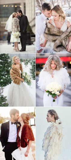 32 Fashion-Forward Jackets To Keep You Warm And Cool At Your Wedding! Faux Fur + Feather Jackets