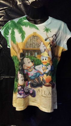 Disney Resort Aulani Hawaii Large shirt Mickey Minnie Goofy Donald Stitch shirt