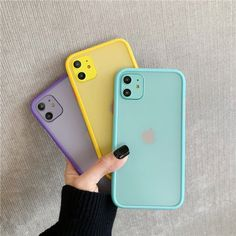 Mint Hybrid Simple Matte Bumper Phone Case for Iphone 11 Pro Max Xr Xs Max 8 7 Plus Shockproof Soft Tpu Silicone Clear Cover Iphone Bumper Case, Iphone Hard Case, Diy Phone Case, Iphone Phone Cases, Phone Covers, Iphone Parts, Unique Iphone Cases, Iphone 8 Plus, Iphone 11