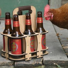 Laser Cut Wood 6 Pack Carrier - Customizable Holder Made with Oak Plywood. Great Groomsman Groom or Manly Gift! Wood Wine Holder, Wine Rack, Laser Cut Wood, Laser Cutting, Wooden Beer Caddy, Cnc Wood Carving, Oak Plywood, Laser Cutter Projects, Diy Cutting Board