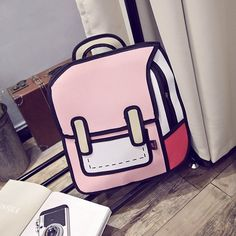 $15.85 Women Cartoon Backpack Girls School Bag Canvas Shoulder Bag