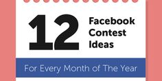 12 Brilliant Contest Ideas for Facebook Pages (One for Each Month) Love this cycle to help boost #parties for #directsellers #iamwickless