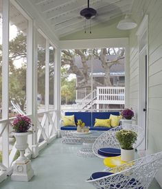 "Love the ""X"" detail of the porcTybee Island, GA beach cottage designed by Rethink Design Studio (via House of Turquoise blog)h railing."
