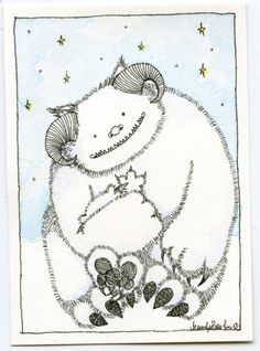 *really* like these cards --- Star Wars Wampa With Baby Art Card by ~jenniferbaughan on deviantART