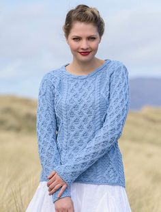 Fall in Love with an Aran Sweater this season and feel warm and snug in our Merino Wool Lambay Aran Sweater for Women. With a scallop neck design and beautiful Aran cable stitch, Order yours today direct from the Aran Sweater Market Aran Jumper, Cable Knit Sweaters, Irish Sweaters, Arsenal, Holiday Outfits, Holiday Clothes, Winter Sweaters, Lace Knitting, Cardigans For Women
