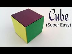 How to make a simple and easiest Paper 'Cube' on earth - Modular Origami Tutorial - YouTube
